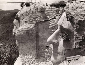 1939 Mt. Rushmore Under Construction
